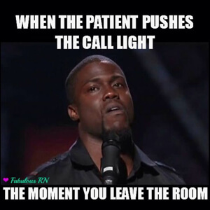 When the patient pushes